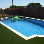 Artifcial lawn in pool area Baldivis, Riockingham