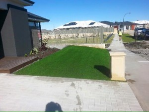 Merry Christine, synthetic lawn and rainbow stones with stepping stones in Piara Waters, Canning Vale (2)