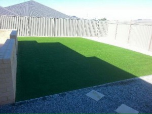 Merry Christine, synthetic lawn and rainbow stones with stepping stones in Piara Waters, Canning Vale