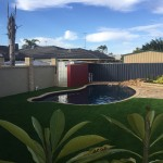 Meadow Cool artificial synthetic lawn grass turf in Rockingham