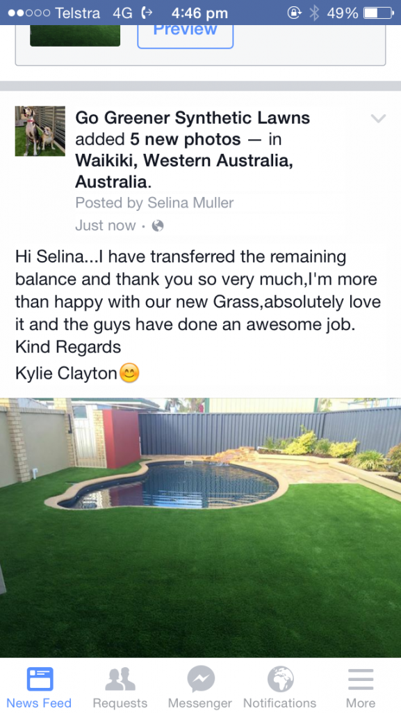 Referral Meadow Cool artificial synthetic lawn grass turf in Rockingham