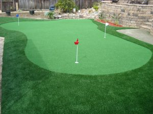 Putting green with fringe
