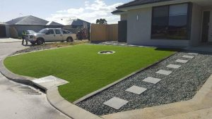 Decorative stones and stepper pavers
